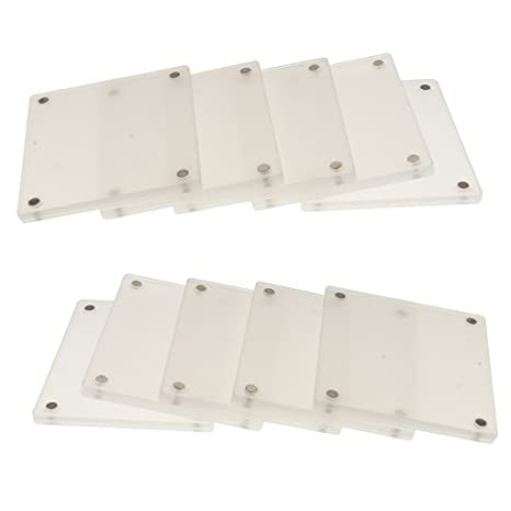 ba088bc0f391 Amazon.com: Homyl 10 Pieces Clear Acrylic Fridge Magnetic Frame Double  Sided for Fuji SQUARE SQ10: Kitchen & Dining