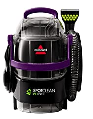 formula tank with BISSELL professional pet urine Eliminator plus Oxy formula, plug it in, turn it on and you're ready to spot clean. The spot clean pet pro comes prepared with tools to effectively clean up pet messes. Remove and trap gross, S...