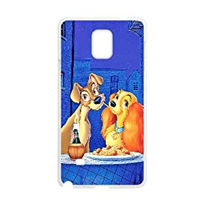Lady and the Tramp Samsung Galaxy Note 4 Cell Phone Case White yyfabd-003943