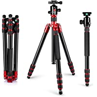 Neewer Alluminum Alloy 67/170cm Tripod Monopod with 360 Degree Ball Head,1/4Quick Release Plate,and Bubble Level Including Carrying Bag for DSLR Camera,Video Camcorder,Load Capacity 33lbs/15kg