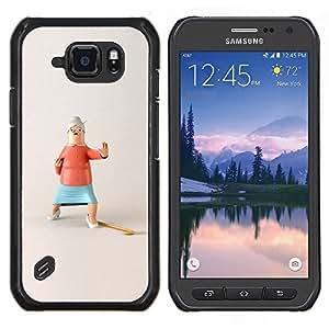 "Be-Star Único Patrón Plástico Duro Fundas Cover Cubre Hard Case Cover Para Samsung Galaxy S6 active / SM-G890 (NOT S6) ( Acción divertido de la abuela de parada de Kung Fu"" )"