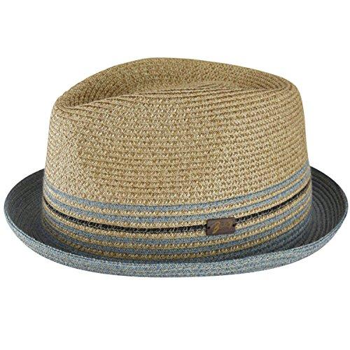 Bailey of Hollywood Men Hooper Toyo Braid Trilby Natural - Hat Toyo Braid Wide