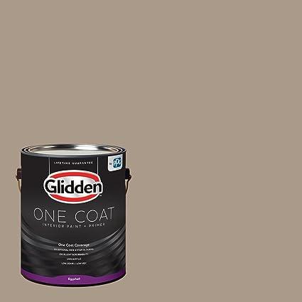 Glidden Interior Paint Primer Greige Diversion One Coat Eggshell 1 Gallon Amazon Com Home Improvement