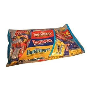 Nestle Fun Size Halloween Candy Assortment 110 Count