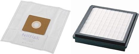 Nilfisk 78602600 Bolsas aspiradora, Blanco + 78601000 Accesorio Aspiración, Blanco: Amazon.es: Hogar