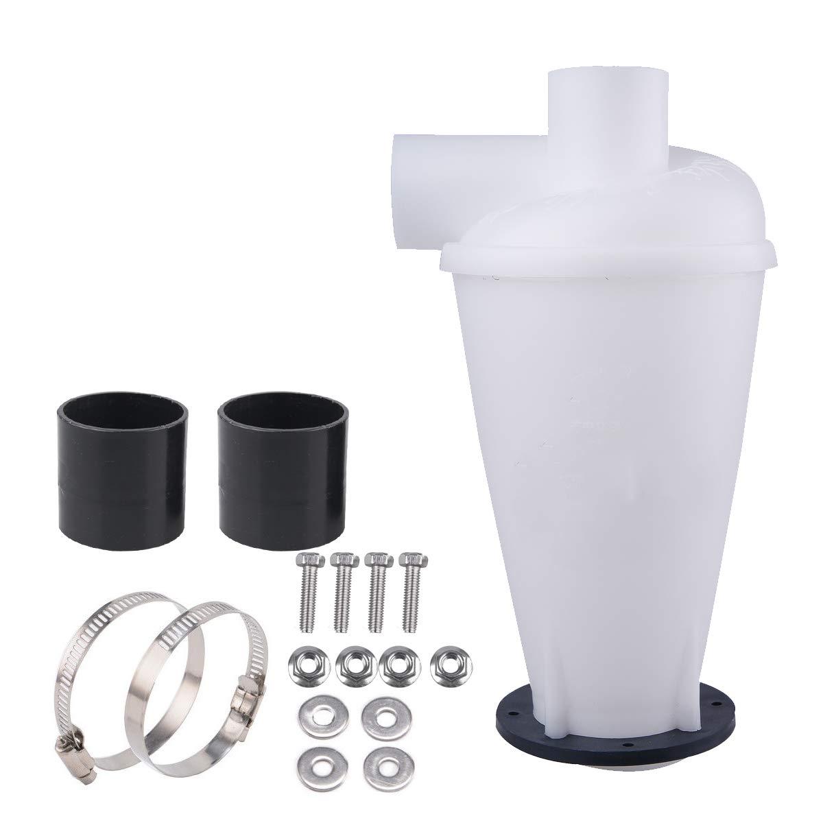 Vinteky Separador Cicl/ónico Negro con base Filtro del Separador de Polvo del Cicl/ón para Aspiradoras