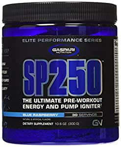 Gaspari Nutrition SP250 Powder, Blue Raspberry, 10.6 Ounce