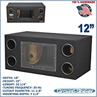 12 Bandpass Ported tube subwoofer enclosure speaker box sub box Ground-shaker