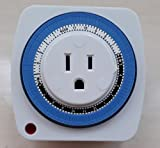 Juyao Mechanical US Plug 24 Hour Plug-in Timer Dor Daily Scheduled Power Switch