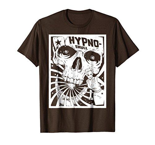 Mens Retro Hypno Skull Horror Movie Poster Style Tee Shirt Large (Fantasy Movie Shirt)