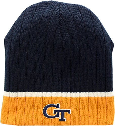 Georgia Tech Yellow Jackets Skull Knit Hat Egghead (Georgia Tech Knit)