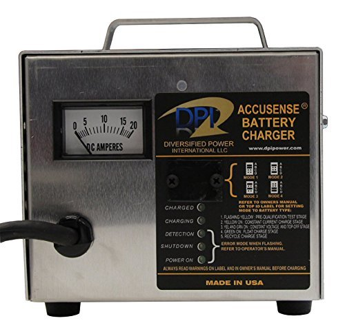 Yamaha G29/Drive 2007-Up Golf Cart 48 Volt 17 Amp DPI Charger with Relay by Accusense Intelligent Charger (Image #4)