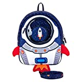 JiePai Toddler Backpack with Safety Harness Leash,Rocket Backpack for Kids Waterproof 3D Cartoon Boys/Girls Backpack,Perfect for Preschool, Daycare, and Day Trips,Age 3-6(Rocket Backpack)