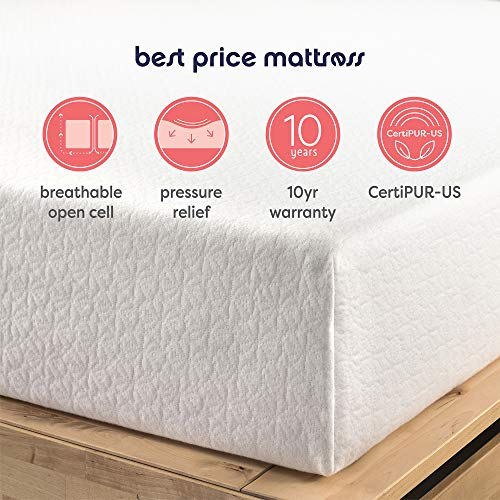 Best Price Mattress 10-Inch Memory Foam Mattress, Queen