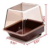 Angelwing Bird Nesting Supplies Bird Bathtub Bath Clean Box Deluxe Cage Accessory for Bird
