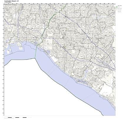 Amazon Com Huntington Beach Ca Zip Code Map Not Laminated Home