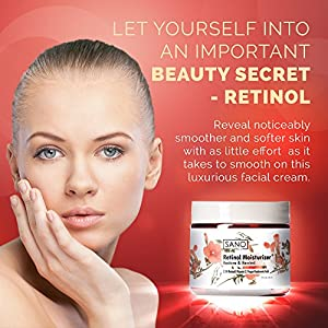 Retinol Face Moisturizer - 2.5% Retinol with Hyaluronic Acid and Vitamin E - Anti Aging Cream - Anti Wrinkle Cream - Reduces Look of Wrinkles and Fine Lines for Face and Neck by Sano Naturals