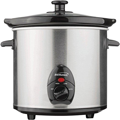 BRENTWOOD SC-130S 3-Quart Slow Cooker (Stainless Steel) c...