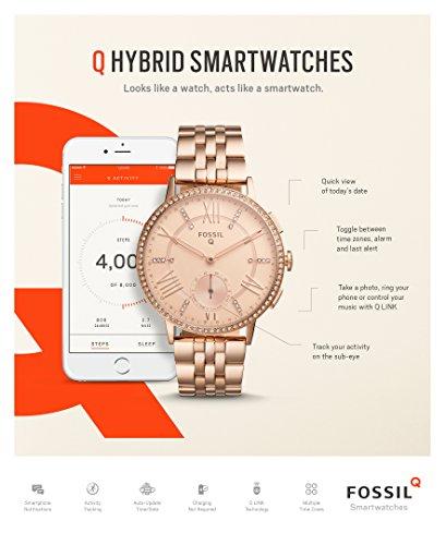 fossil q gazer gen 2 hybrid rose gold tone stainless steel smartwatch 11street malaysia. Black Bedroom Furniture Sets. Home Design Ideas