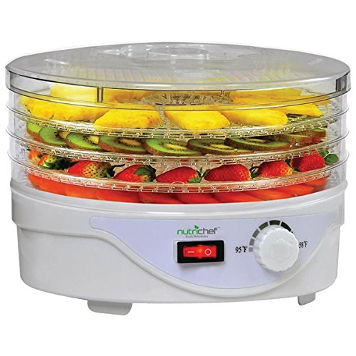 Nutrichef PKFD08.0 Small Countertop Appliance, One Size, Black/Chrome