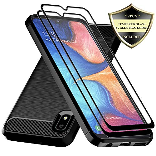 Galaxy A10E Case,Samsung A10E Case with Tempered Glass Screen Protector,Dahkoiz Shock Absorption Galaxy A10E Phone Case Slim TPU Bumper Cover Lightweight Protective Case for Samsung Galaxy A10E,Black (The Best Cell Phone Cases Reviews)