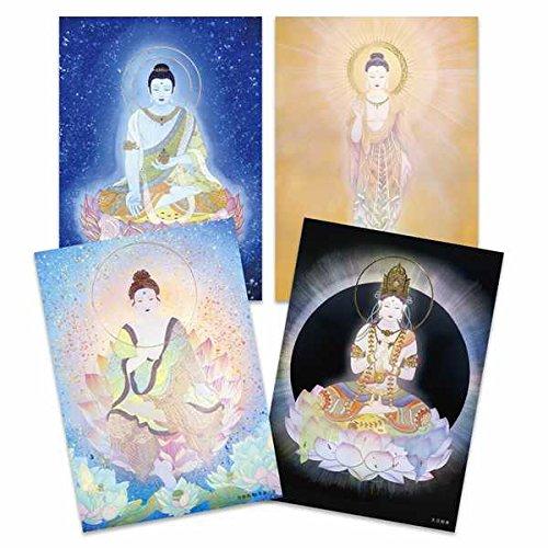 [해외]석-유니버설 마인드 ~도 아야 그림 엽서 「 여래 」 4 매 세트: 陶 간성 화가: 草場 一壽 / Shijiazhuang-Universal Mind-Ceramic Art Postcard \\