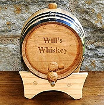 Amazoncom Personalized Mini Oak Whiskey Barrel By Jds Barware