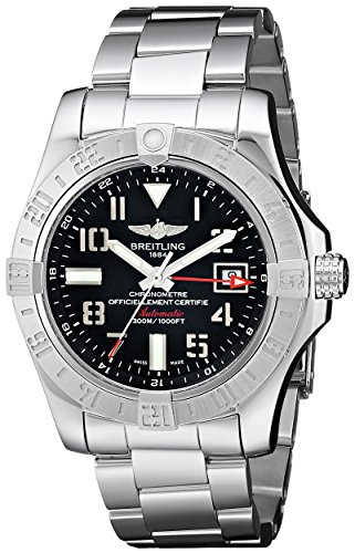 Breitling Men's BTA3239011-BC34SS Avenger II GMT Analog Display Swiss Automatic Silver Watch