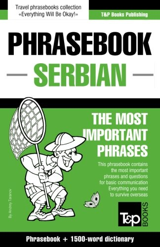 English-Serbian phrasebook and 1500-word dictionary...