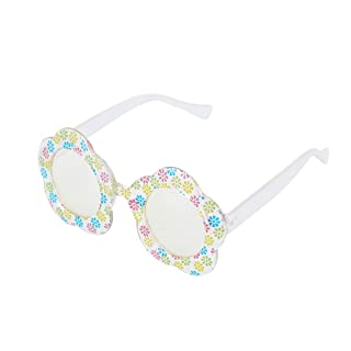 Toyvian Hawaiian Party Sunglasses Flower Funny Glasses Beach Tropical Luna a Tema Party Puntelli