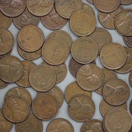 Cent Wheat Roll - 1944 Lincoln Wheat Cent 50 Coin Roll Average Circulated Pennies