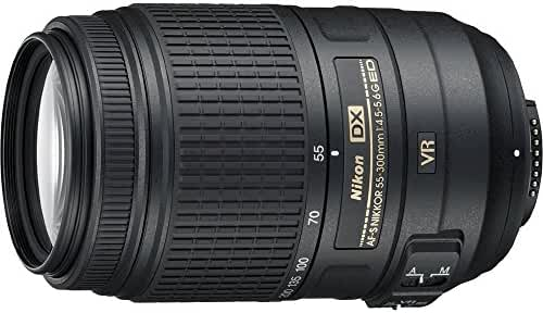 Nikon 55-300mm f/4.5-5.6G ED VR AF-S DX Nikkor Zoom Lens for Nikon Digital SLR (Certified Refurbished)