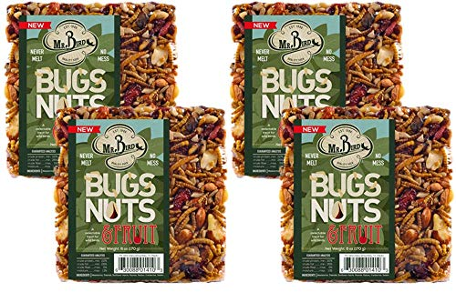Mr. Bird Bugs, Nuts, Fruit Small Wild Bird Seed Cake 6 oz.