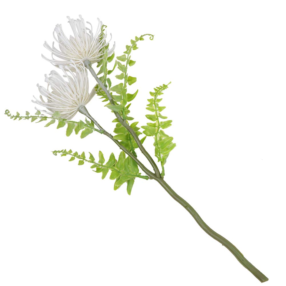 CHoppyWAVE 1ブーケ 人工プラスチック 菊 花 植物 ホーム オフィス 店 装飾 ホワイト B07H2WTBV7