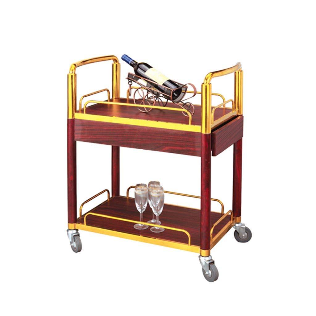 YD 商品ラック - 工具カート茶ワインカートデザートカーホテルモバイルサービスカートベビーカー /& (色 : A, サイズ さいず : 64x40x85cm) B07JK4HTN7 A 64x40x85cm