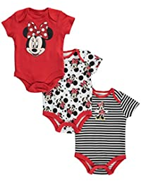 """Minnie Mouse Baby Girls' """"Posing Prettily"""" 3-Pack Bodysuits"""