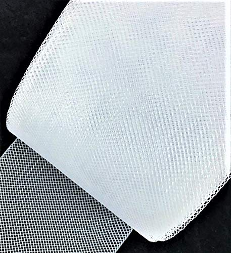 3''inch wide Stiff Polyester WHITE Horsehair Braid, selling per Roll 50Yards by sewing888