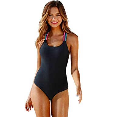 HCFKJ 2018 Nouveau Maillots de Bain Femme Bikini One-Piece Push-Up  rembourré Bain 8f1b2011803