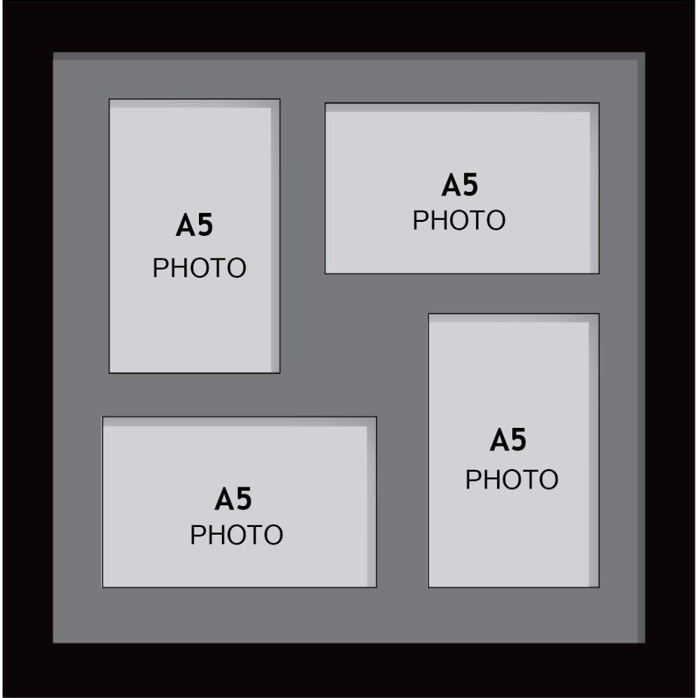 Amazon.de: Große Multi Bilderrahmen Blende Rahmen, Größe A5 mit 4 ...