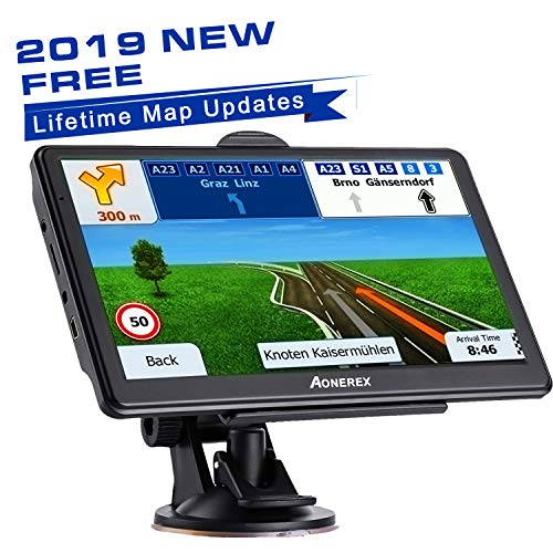 GPS Navigation 7 inch HD Universal GPS Smart Voice Reminder 8 GB ROM 256 MB Global Navigation Satellite System – Newest Map + Lifetime Free Updates