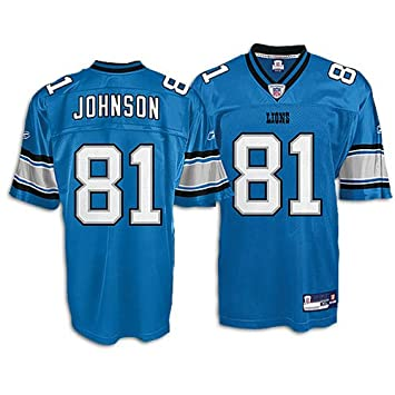 new product 98578 ab8ac Amazon.com : Reebok Detroit Lions Calvin Johnson Replica ...