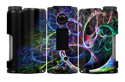 - Decal Kid Skin for Dovpo Topside Dual 200W Squonk - Coloured Smoke 02   Protective, Durable, Unique Vinyl Decal wrap Cover   Easy to Apply, Remove, and Change Styles and Change Styles