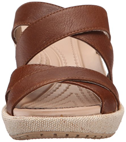 fefff6e8b902 crocs Women s A-Leigh Crisscross W Wedge Sandal