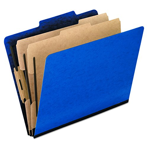(Pendaflex Top-Tab Pressboard Classification Folders, 2/5 Cut, 2 Dividers, Legal Size, Blue, 10 Per Box  (2257BL))