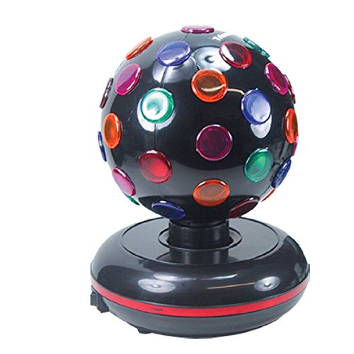 (Trisonic Party Time Multi Color 360 Degree Rotating Mirror Disco Light)