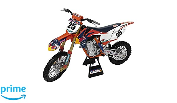 New Ray Toys Replica 1:6 Race Bike 17 KTM 450SX-F ORANGE MUSQUIN 49633