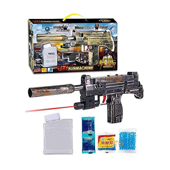 nandani enterprises M416 PUBG Theme Uzi Submachine 2in1 Gun Toys Set with Assault Rifle
