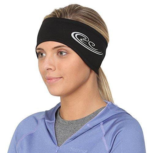 (TrailHeads Women's Power Ponytail Headband - Black/Reflective Silver)