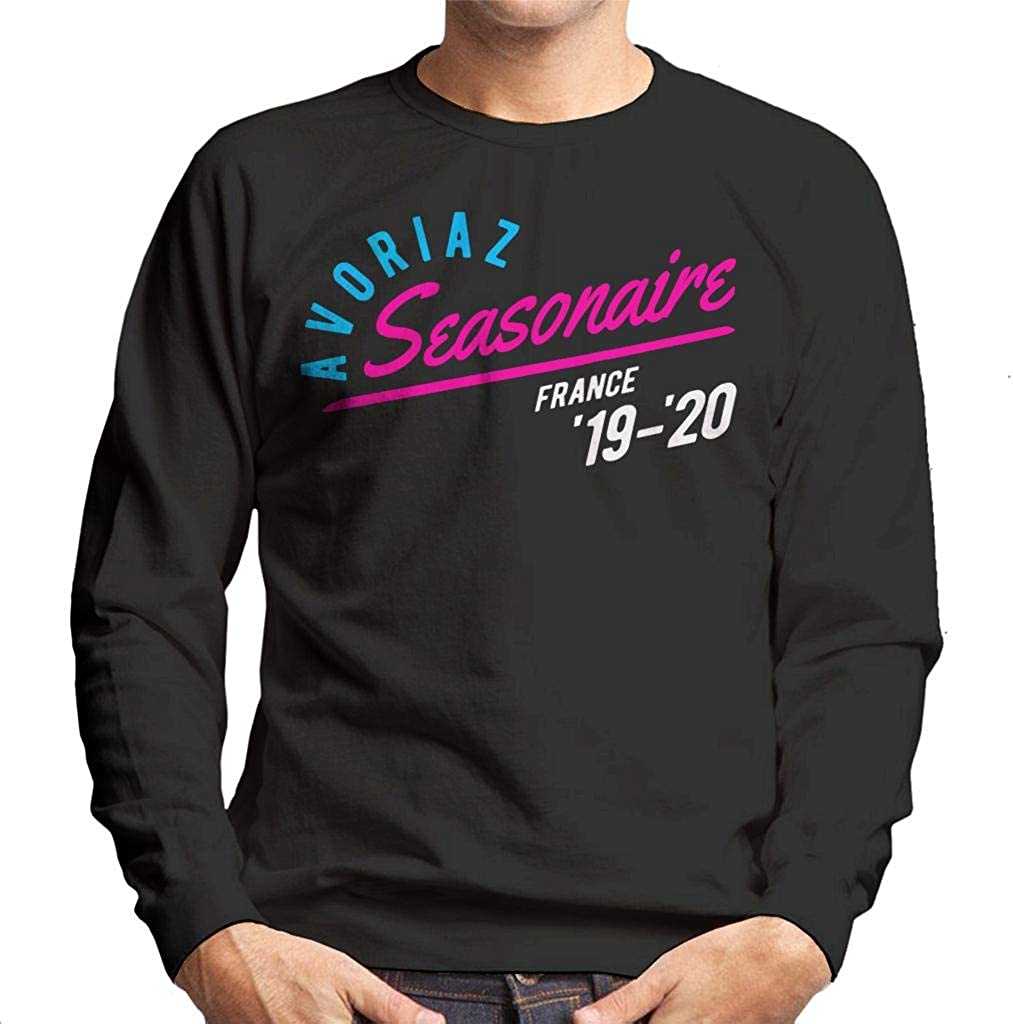 Avoriaz Seasonaire France 19 20 Ski Skiing Mens Sweatshirt