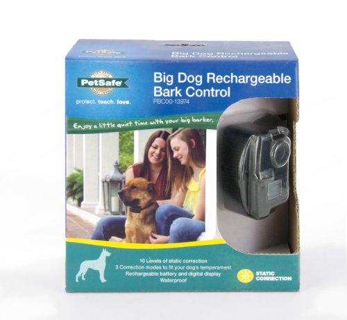 Petsafe Big Dog Rechargeable Bark Collar For Medium & Large Dogs Over 40lbs, Waterproof, Perfect Bark Detection